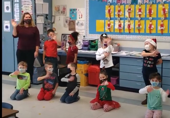 Fisher Elementary shares a holiday greeting