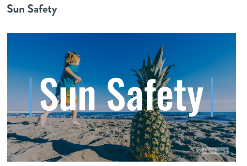 Sun Safety reminder from Mrs. Crim