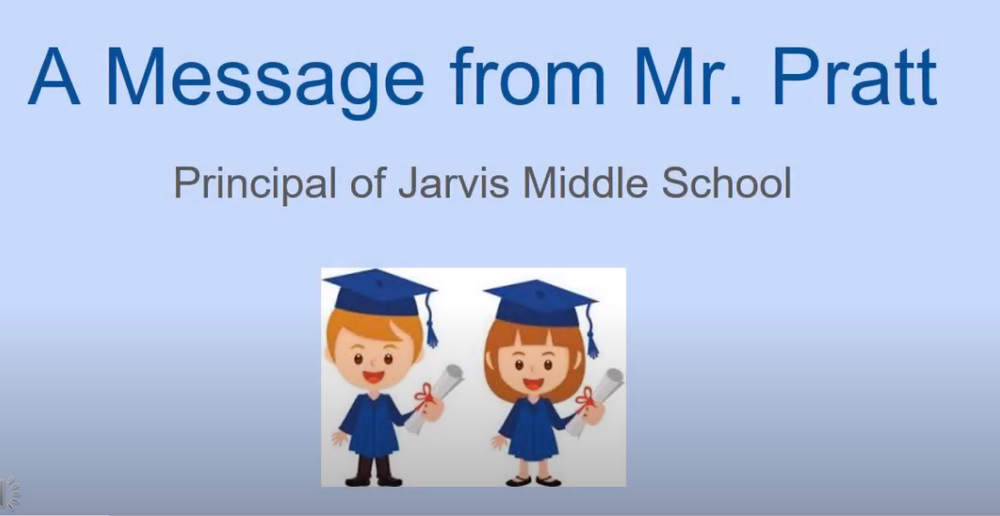 Jarvis (virtually) celebrates 8th grade moving up