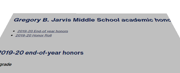 Jarvis announces academic honors