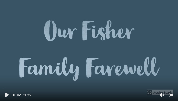 A photo farewell from Fisher