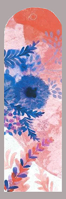 one bookmark floral pattern